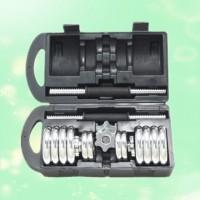 诚悦CY-024运动器材可拆装自由组合电镀哑铃15kg 礼盒套装