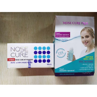 NoseCure手动洗鼻器附赠洗鼻盐60支韩国直邮